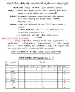 Karnataka court stenographer notification