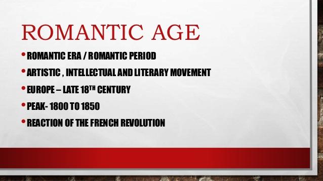 Characteristics of romantic age in english literature