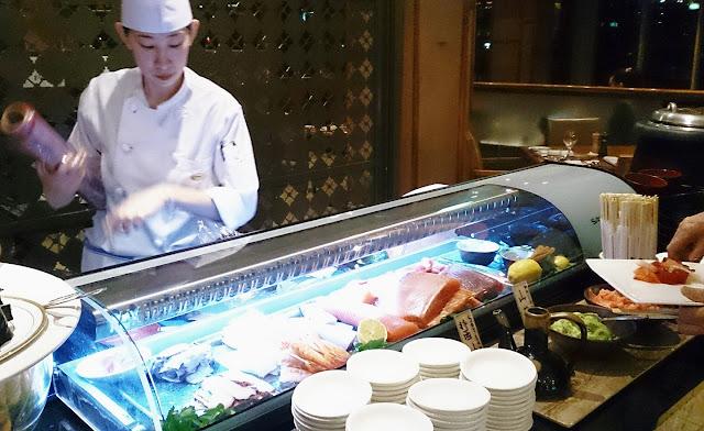 Melba, Langham Hotel, sushi