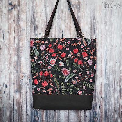 spring, embroidery, faux embroidery, print, waterpfoof, Washpapa, #innywymiarszycia, Inny Wymiar Szycia, totebag, shoulder bag, bag, vegan accessories, vegan-friendly, polyester, vegan leather, washable paper,