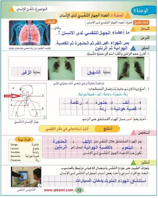 تصحيح دروس الوحدة 5 منهل النشاط العلمي المستوى الثالث