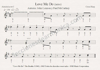partituras para armonica notas de love me do