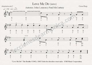 partituras para armonica notas de love me do