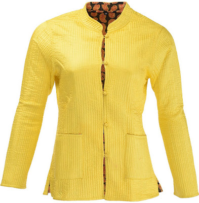 Dastkaarii Women's Nehru Collar Jacket
