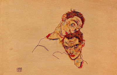 Double Self Portrait, Egon Schiele, Auto-Retrato Duplo