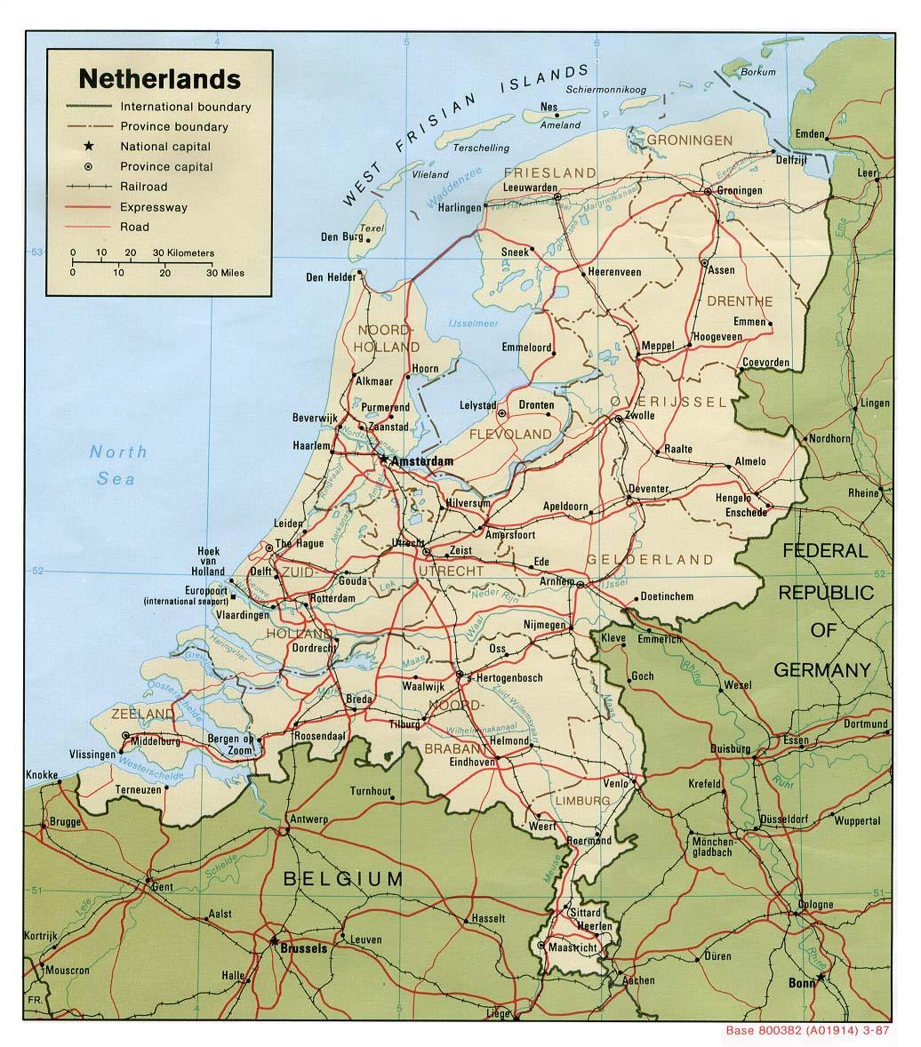 Kaart Nederland Vakantie Kaart Nederland En Amsterdam