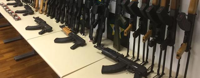 """ENTERATE: POLICIA de BRASIL INCAUTO METRALLETAS de """"ENVIDIA"""" al CRIMEN y SOLICITO UTILIZARLAS"""
