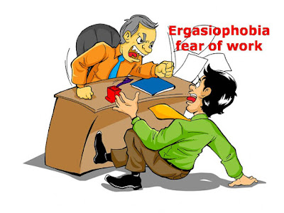 Ergasiophobia, fear of work