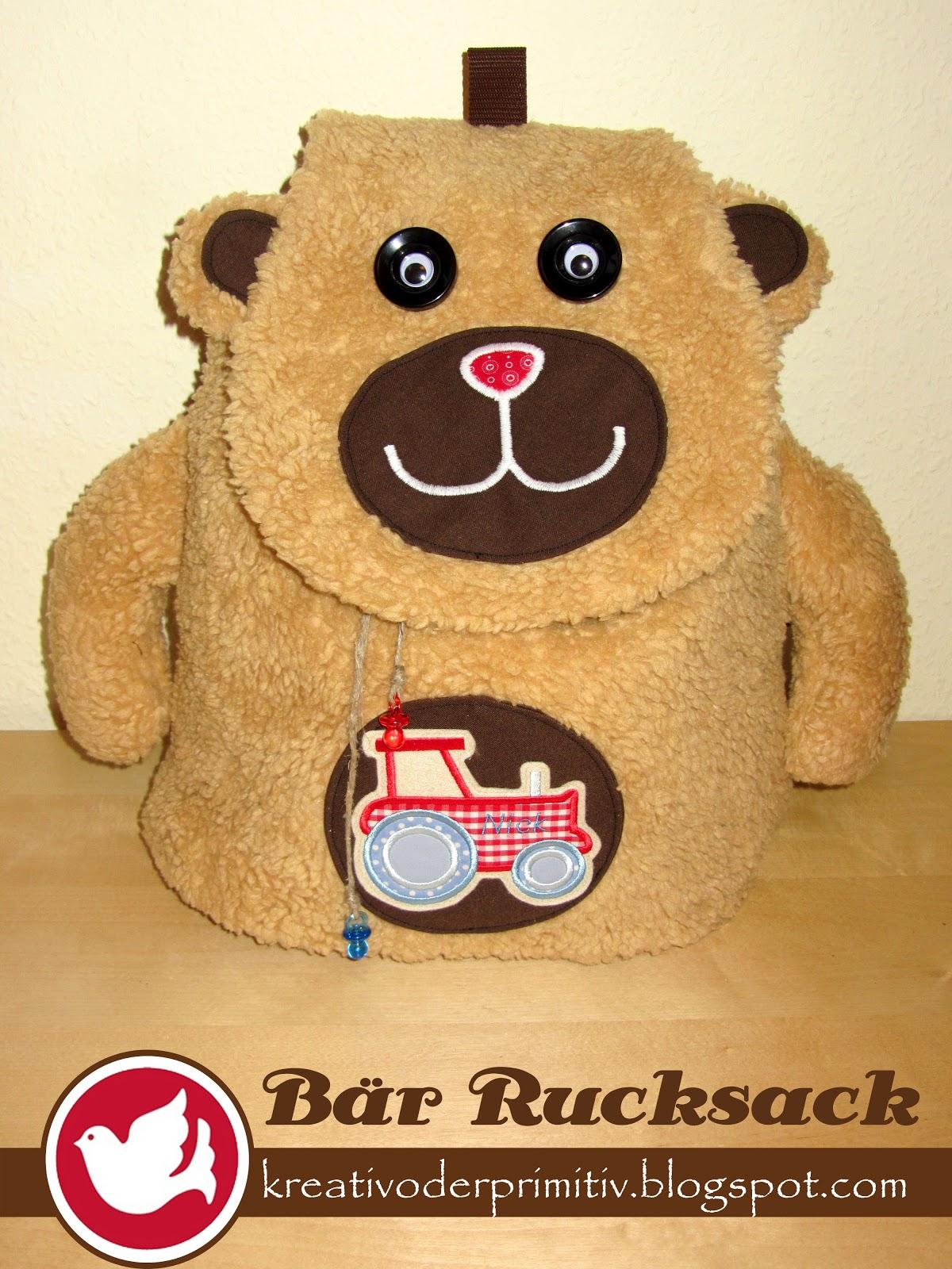 kreativ oder primitiv?: teddy-rucksack