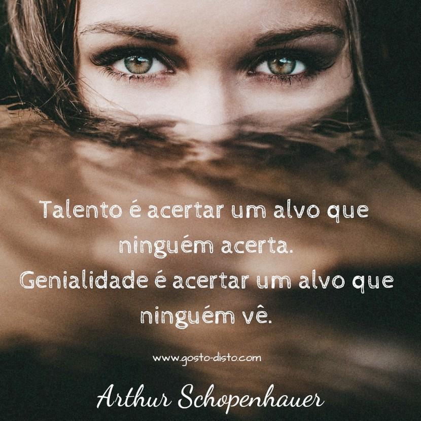Frase sobre talento e genialidade