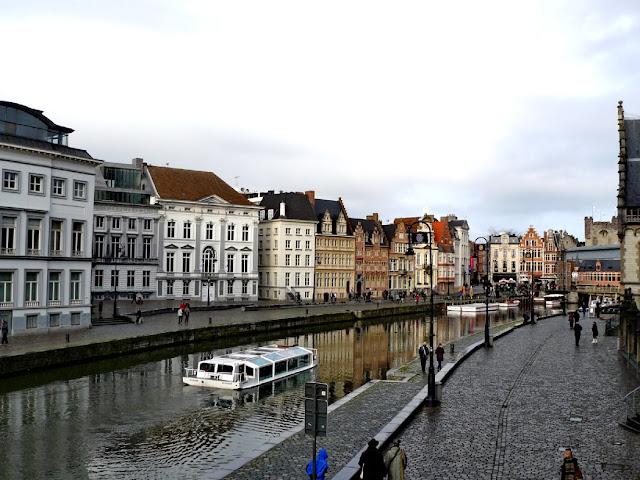 Río Leje en Gante - visitar Gante en un día