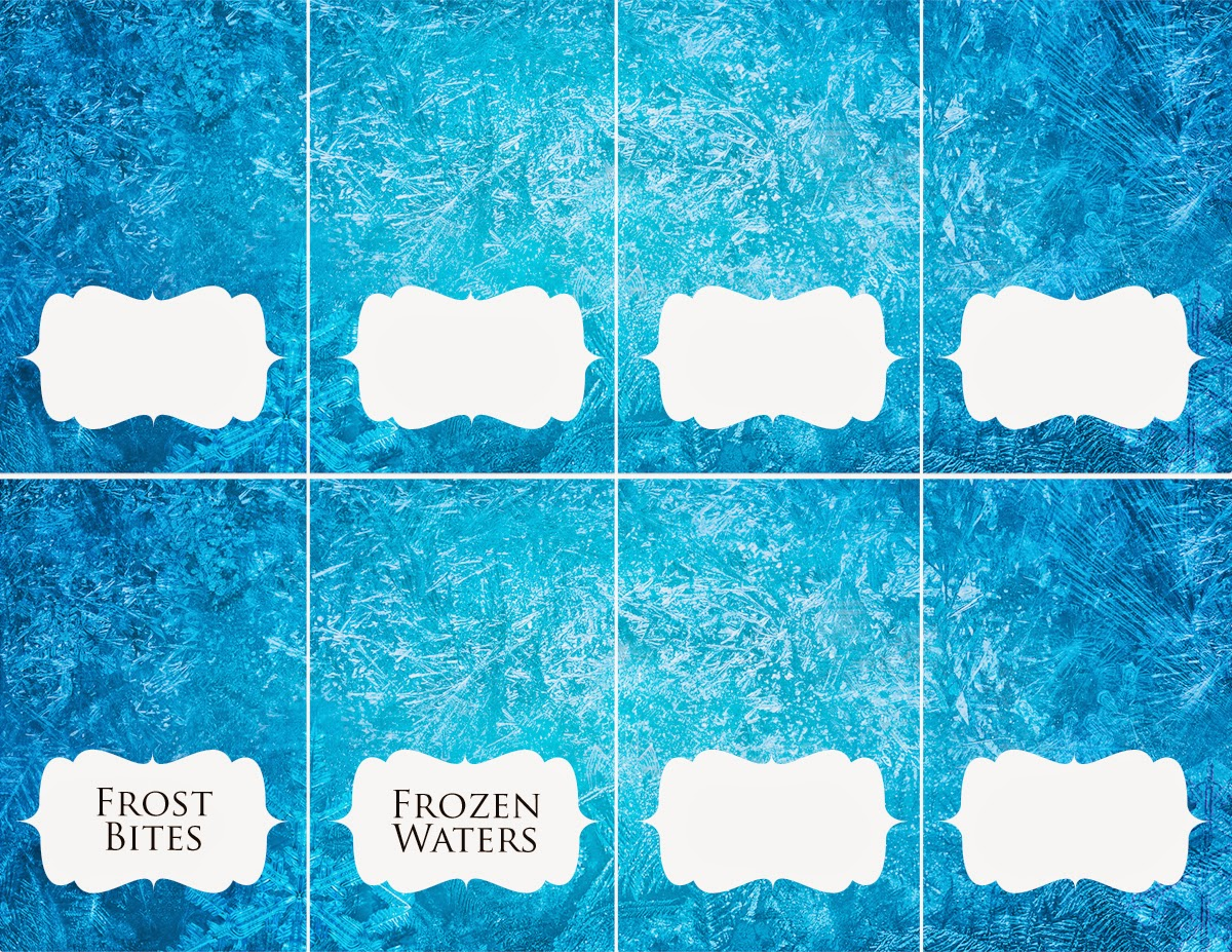 Disney Frozen food place card frozen waters frost bites