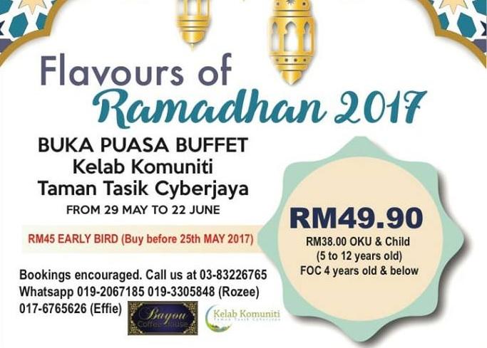 kelab komuniti cyberjaya buffet ramadhan