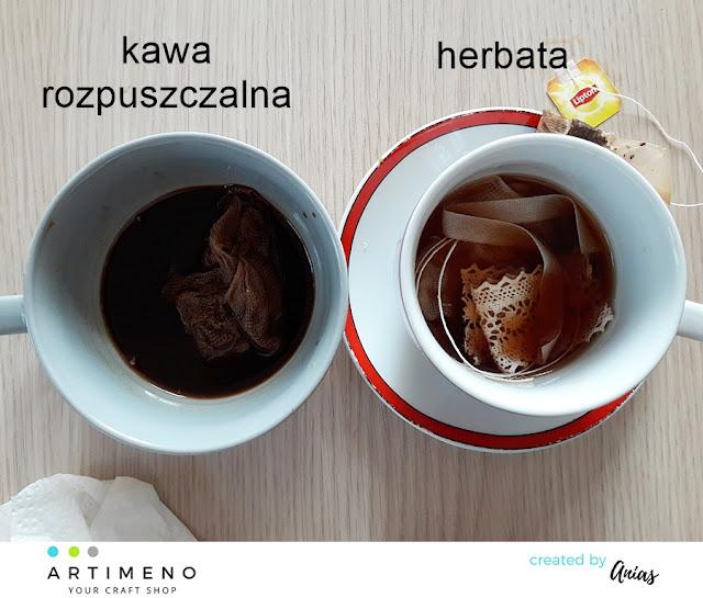 barwienie gazy herbatą1