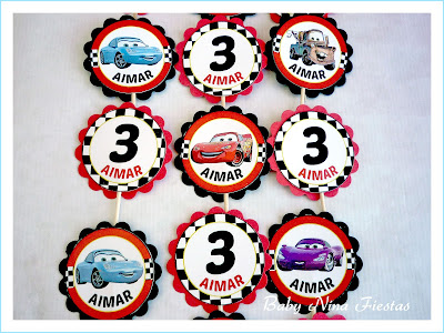 toppers cupcakes cars