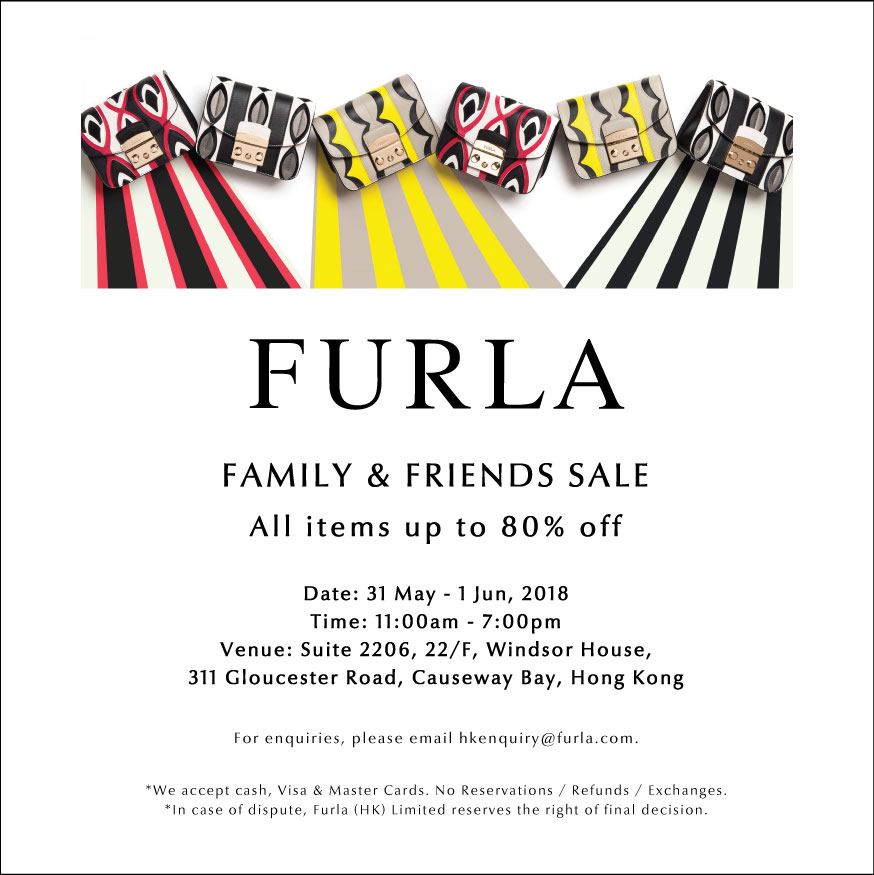 b63a114e6e1505 Hong Kong Fashion Geek  FURLA Family   Friends Sale