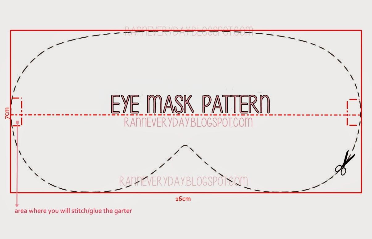DIY Project: Felt Panda Eye Mask - Ranneveryday