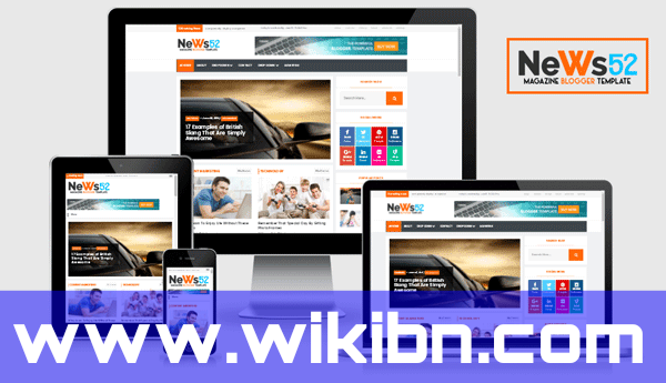 News52 Premium Blogger template by WIKIBN