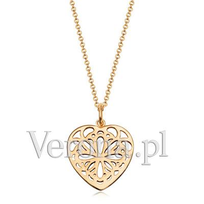 Verona ażurowy naszyjnik nowa kolekcja 2016 modna biżuteria polska