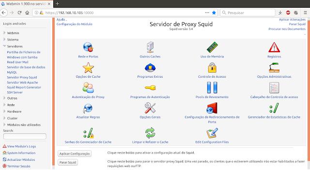 Webmin - Administrador de Sistemas - Dicas Linux e Windows