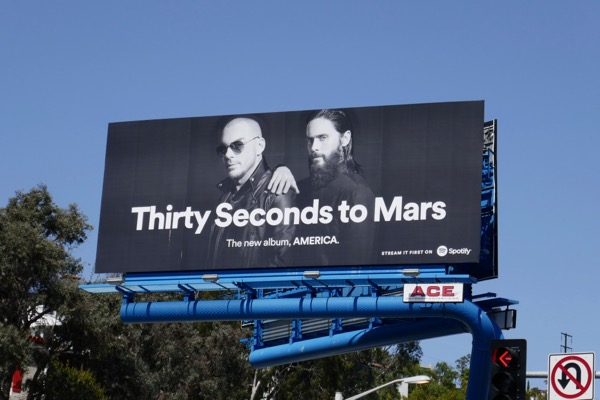 Thirty Seconds to Mars America Spotify billboard