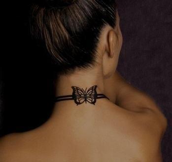 Para inspirar: tatuagem feminina e delicada na nuca