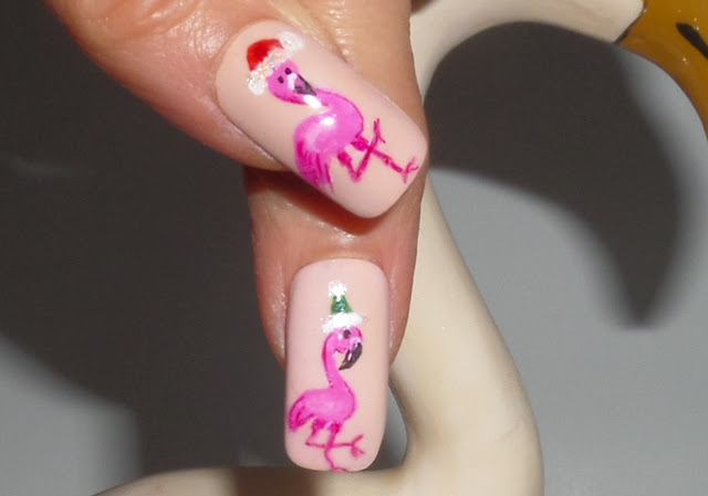 flamingo nail designs thumbs