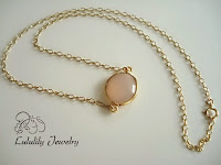 Pink Necklace in 14kt Gold