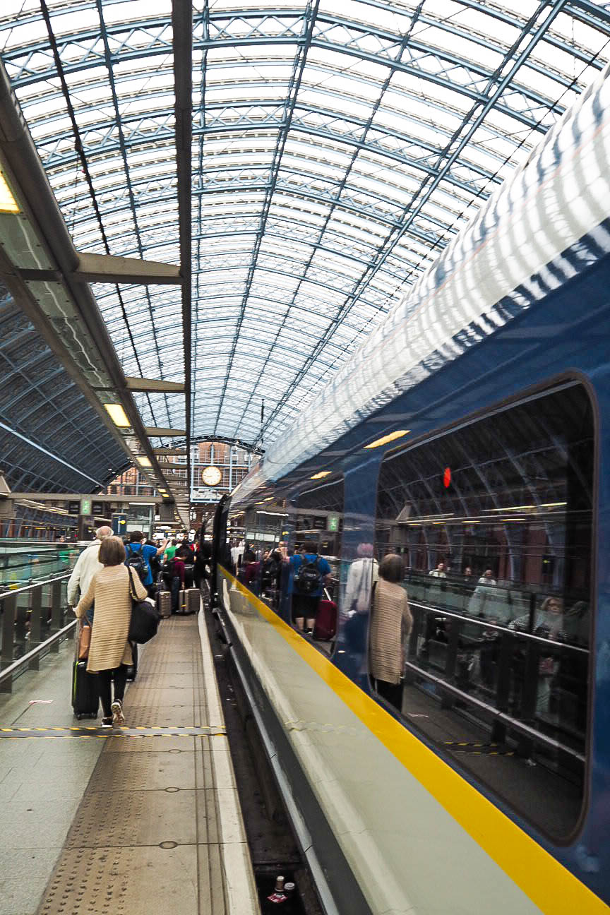 Eurostar platform at St Pancras