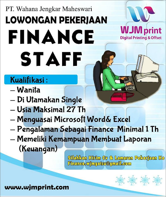 Lowongan Kerja Staff Finance Bandung