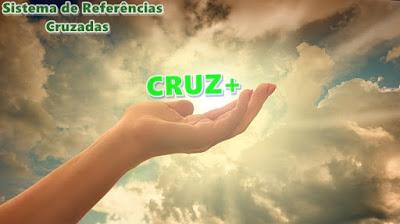 """Imagem de uma mão em meio ao céu anunciando o início do Sistema de Referências Cruzadas, """"CRUZ+"""""""