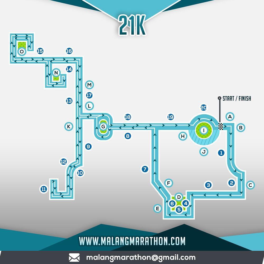 21K 👟 Malang Half Marathon • 2018