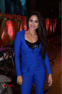 Actress Naina Ganguly Stills in Blue Dress at RGV Shiva to Vangaveeti Event  0034.JPG
