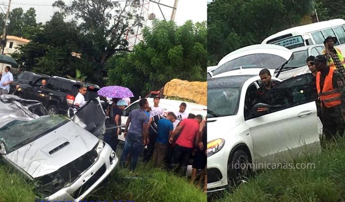 Don Miguelo involucrado en accidente ocurrido en Bonao
