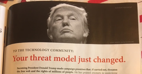 Full Page Ad in Wired Magazine - a little late for this