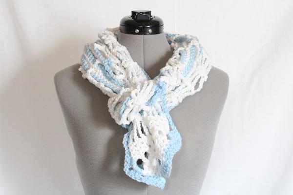 crochet, free pattern, fail, dancing dragonflies scarf