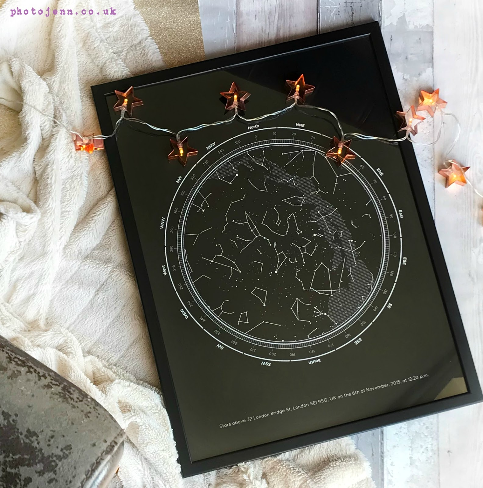 photo jenn ic personalised star map from under lucky stars. Black Bedroom Furniture Sets. Home Design Ideas