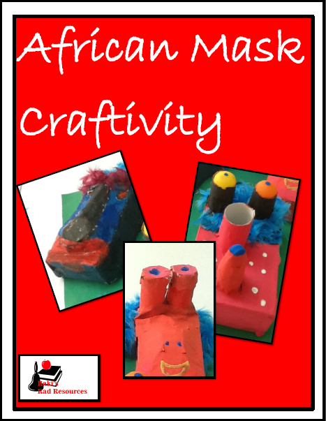 Free African mask craftivity - make masks with recycled items - planning sheet from Raki's Rad Resources