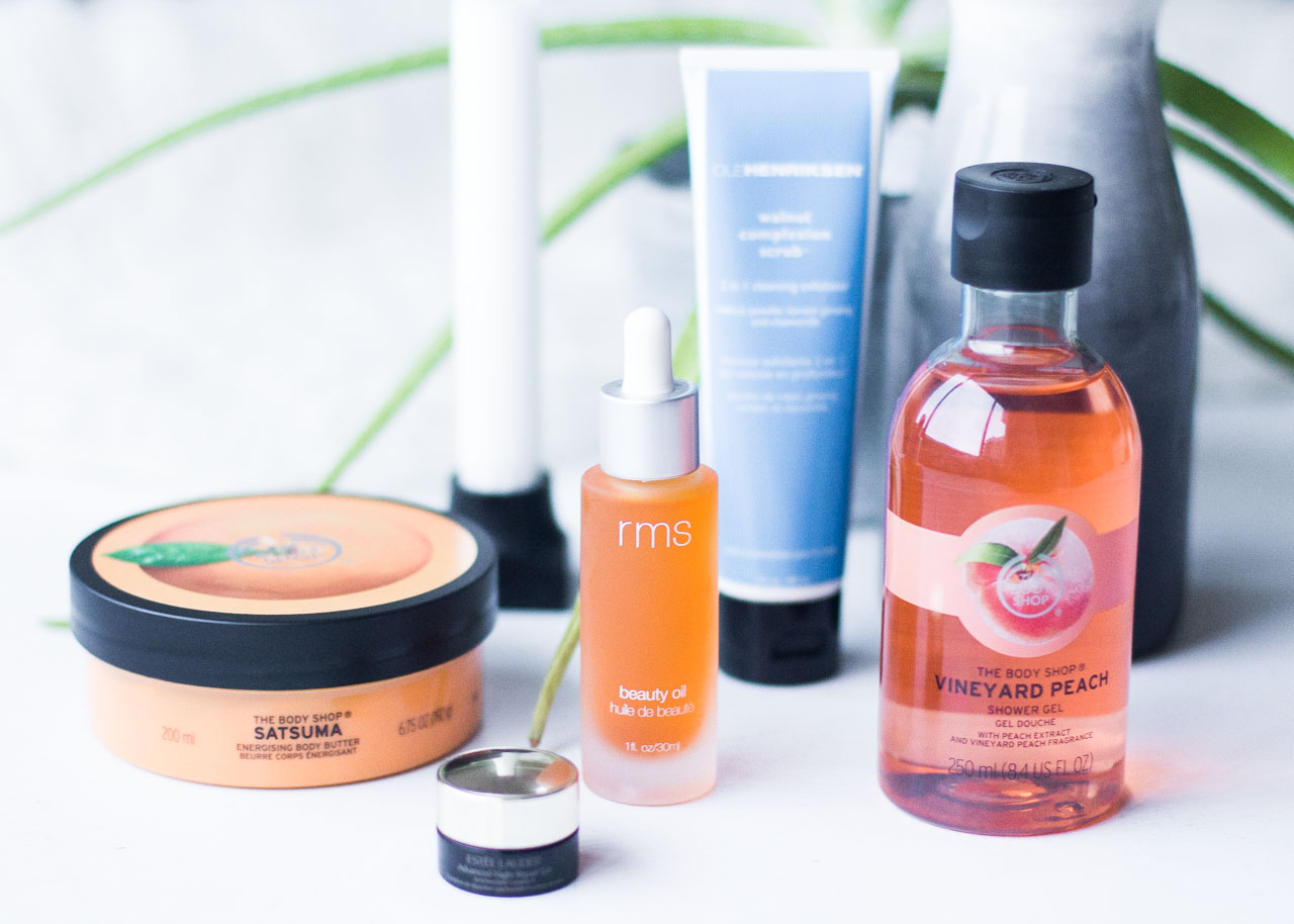 Skincare Favorites - RMS beauty - Estee Lauder - Ole Henriksen - The Body Shop