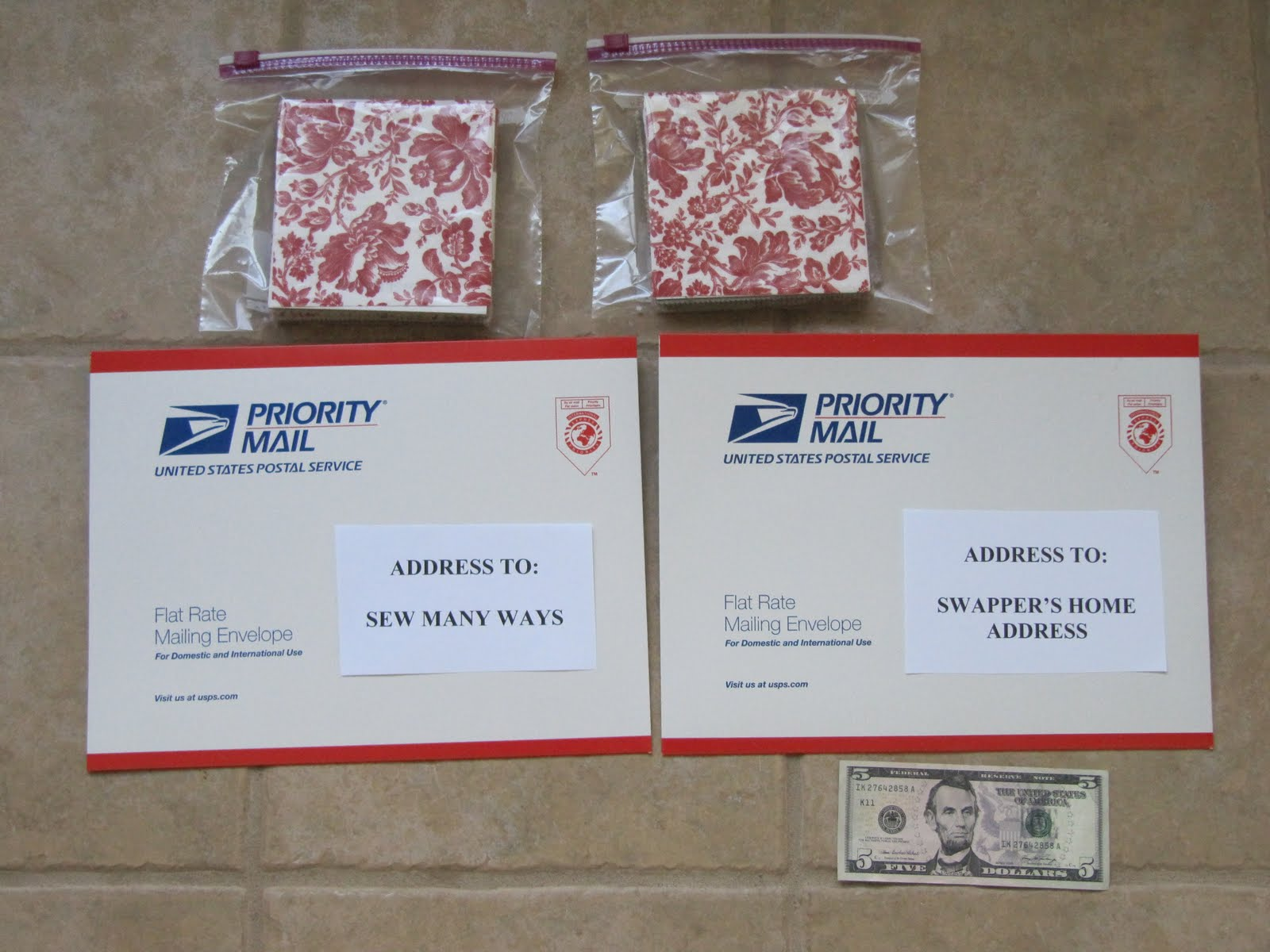 How To A Mail Package For Fabric Swap