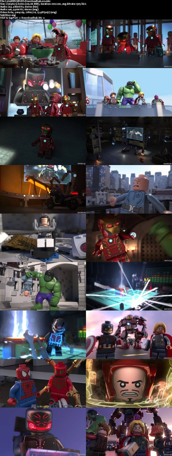 Lego Marvel Super Heroes Avengers Reassembled 2015 Hindi Dual Audio 720p WEBRip Free Download