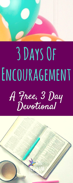 3DE (3 Days of Encouragement) is a free, 3-day devotional series that is delivered straight to your email inbox and it's all about becoming a more encouraging (and encouraged) follower of Jesus.