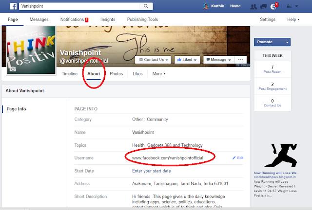 Facebook Fanpage url