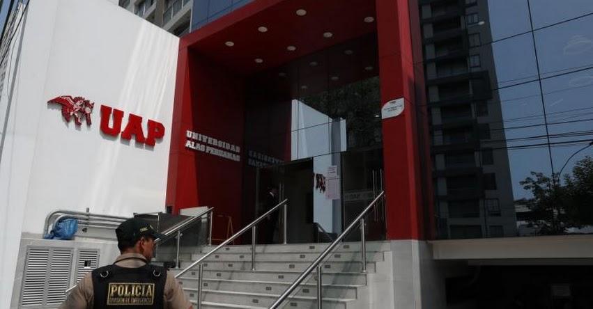 Fiscalía allana local de la Universidad Alas Peruanas - UAP