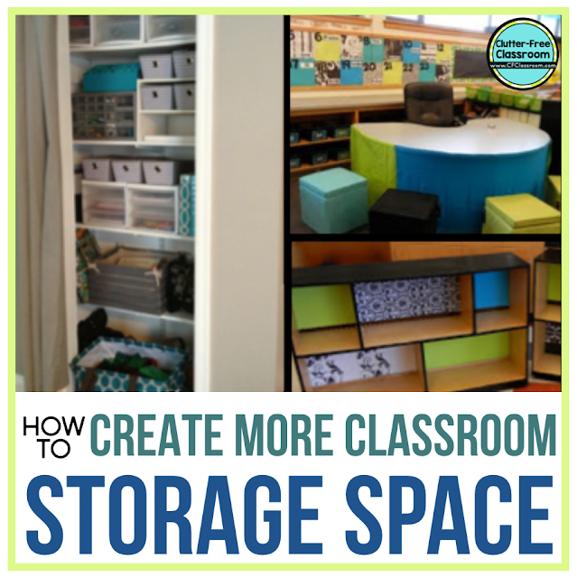 You can not make your classroom bigger, but there are ways to create more storage space in your classroom? Your solutions are here! These simple decluttering tips, organizing strategies, and storage solutions will transform your space!