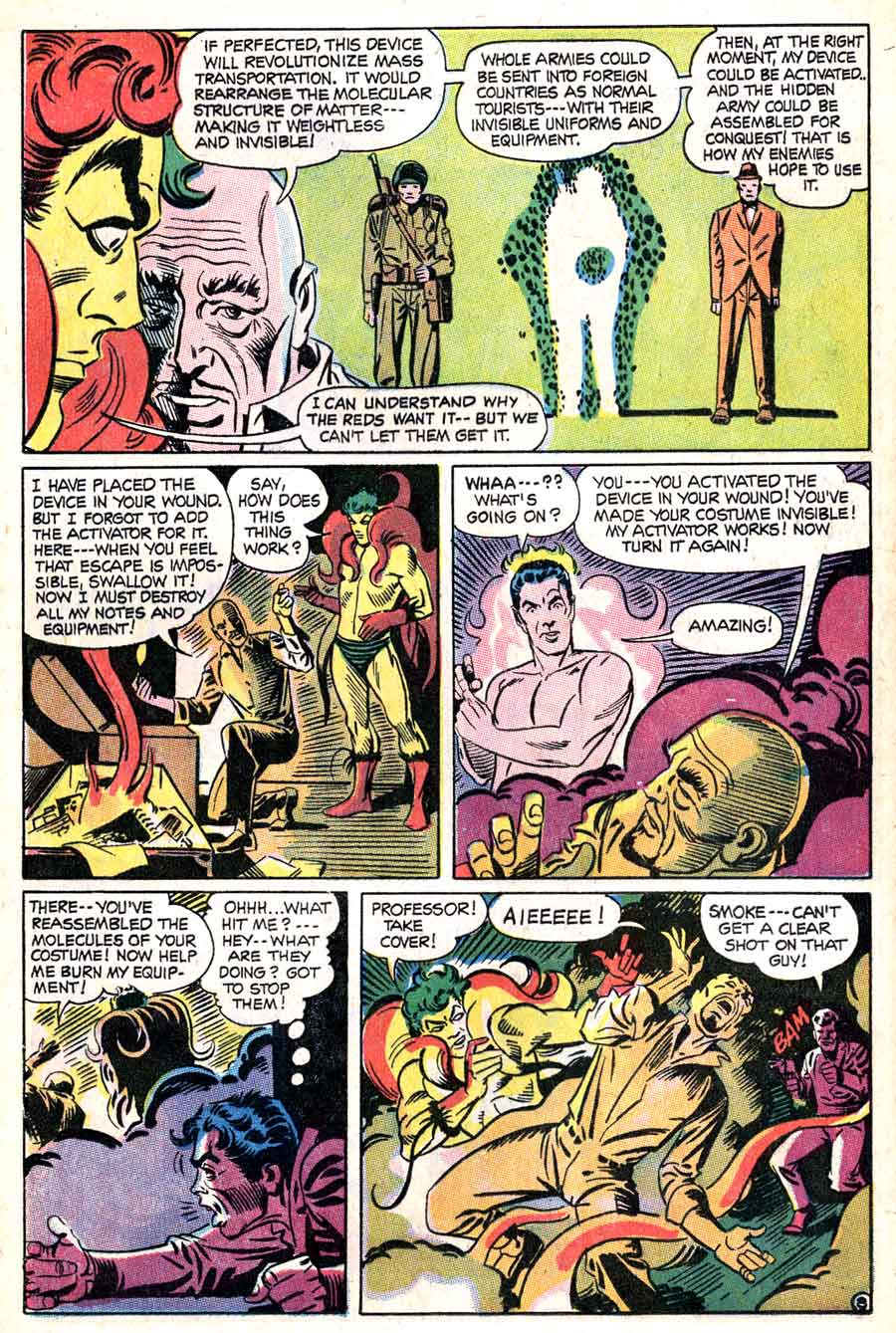 Showcase v1 #73 Beware The Creeper dc comic book page art by Steve Ditko