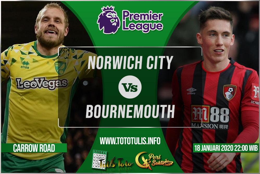 Prediksi Norwich City vs Bournemouth 18 Januari 2020