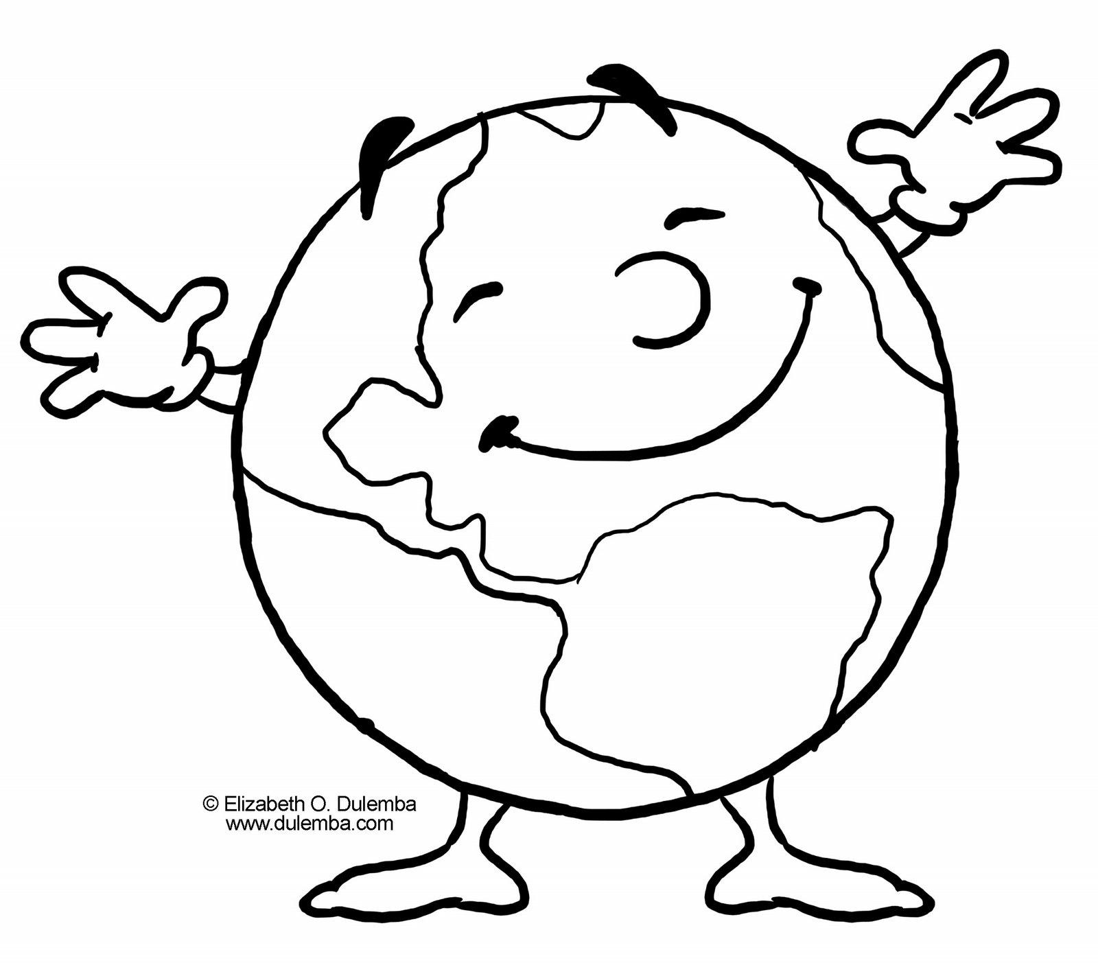 Baú da Web: Desenhos Dia da Terra para Colorir