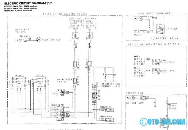 komatsu manuals electrical diagram pc300