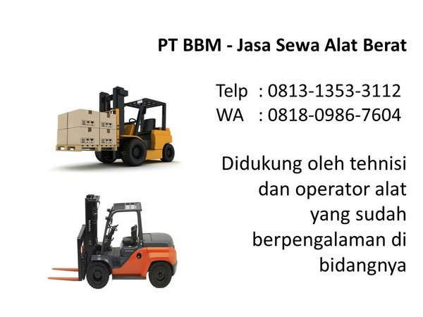 harga rental excavator pc 200 bandung dan jakarta